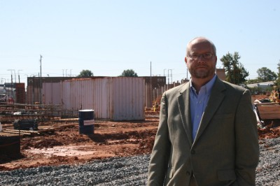 Jonathan Bahr had to wait four years for construction to start on apartments he designed.