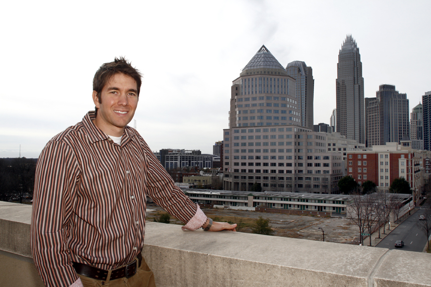 Tim McCollum, a broker for realty firm MyTownHome, said pickings for condos in uptown are slimmer than they are in other parts of the Charlotte area. Photo by Nell Redmond
