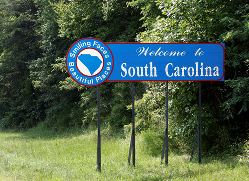 SC Welcome sign