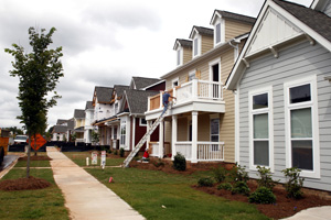 The number of permits pulled for new homebuilding, such as in Antiquity in Cornelius is on pace to be higher than any year since 2007. Photo by Nell Redmond