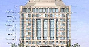 This rendering, courtesy of Lincoln Harris, shows the design of the two Capitol Towers buildings that were approved Monday night.
