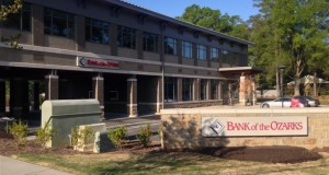 The developer of this Bank of the Ozarks on Park Road was able to pay a fee in lieu of having to install stormwater mitigation measures. The City Council will vote on Monday on whether to continue this program. Photo by Payton Guion.