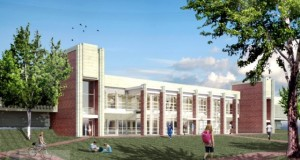 UNC Charlotte's Belk Gym, built in 1970 when 600 students lived on campus, is getting a $17.2 million renovation expected to be finished in fall 2015. Illustration courtesy UNC Charlotte