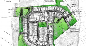 The Huntersville Board of Commissioners approved this site plan for a 96-home residential subdivision proposed by Charlotte-based Hopper Communities. Courtesy of the town of Huntersville