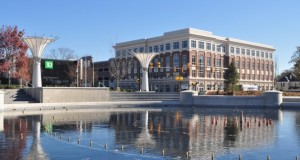 Fountain Park Place, as seen from Fountain Park, at the corner of East Main Street and South Elizabeth Lane in Rock Hill. The grand opening of the park is scheduled for Dec. 6. Photo by Eric Dinkins