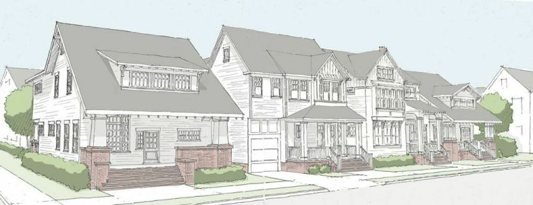 Saussy Burbank plans to build up to 39 homes and two duplexes in the Cherry neighborhood over the next two years. Photo courtesy Saussy Burbank.