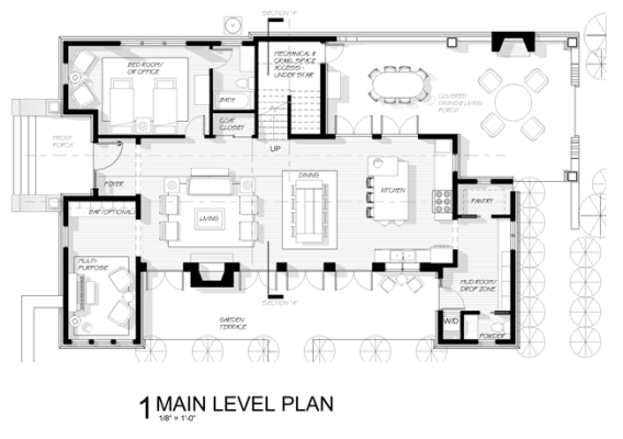"""The floor plan of Bryan Mermans' """"Our Vernacular"""" was lauded by judges for its flexible space and integration of outdoor and indoor living areas."""