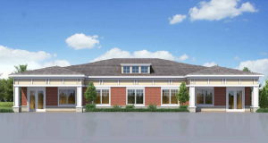 Southern Apartment Group's development proposal for Lancaster Highway includes two office buildings, which the Planning Department and neighbors say doesn't fit in with the character of the area, which is largely residential. Illustration courtesy Charlotte-Mecklenburg Planning Department