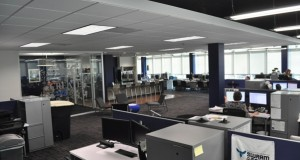The corporate side of Wastequip's office on the third story of an office building in SouthPark, includes two of the office's largest conference rooms. Photo by Eric Dinkins