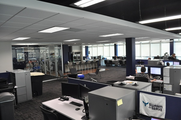 The corporate side of Wastequip's office on the third story of an office building inSouthPark, includes two of the office's largest conference rooms. Photo by Eric Dinkins