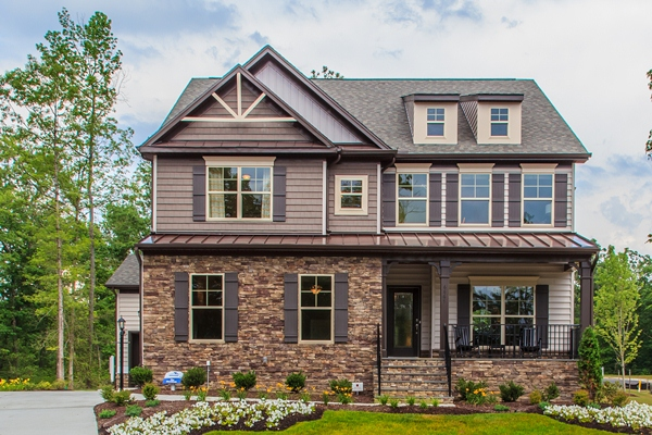 Eastwood Homes will complete construction in late April on its Davidson model home at the Robinson Oaks development in Gastonia. The company, along with Ryan Homes, is building 210 single-family houses there.