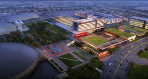 GoodSports has asked for a one-year delay in talks with the city for its proposed amateur sports complex, illustrated above, near Bojangles' Coliseum on East Independence Boulevard.