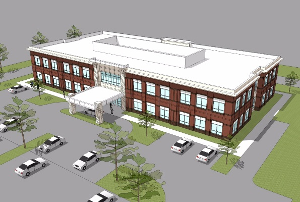 Novant Health is expected to occupy 23,000 of the 33,000 square feet that will be available in the first office building under construction at the Waverly development at Providence and Ardrey Kell roads.