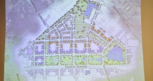 A site plan for the former Eastland Mall property was presented to the city's Economic Development and Global Competitiveness Committee on Thursday afternoon. The plan included a 22-acre park along Central Avenue, a K-8 magnet school on the northeast corner of the site and commercial structures north of the park that would include a variety of uses, such as multifamily, retail and office.