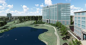 The nearly 288,000-square-foot Brigham Building in Ballantyne is slated for completion by the end of next year.