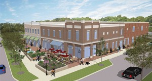 Real Estate Investment Fund LLC's rezoning petition for the proposed construction of a retail, office and self-storage building, above, on Prosperity Church Road was approved Monday by the Charlotte City Council. Rendering courtesy of ADW Architects