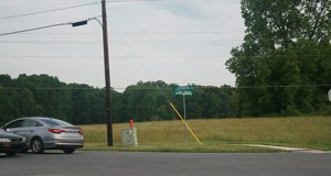 Stallings has little land that is available for commercial development. This tract, at Stevens Mill and Stallings roads, is one of them, said Councilwoman Deborah Romanow. Photo by Roberta Fuchs
