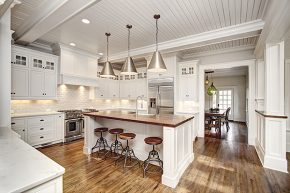 The kitchen at 445 Lousise Ave. was much smaller before Meeuwsen did his renovations leading to this redo with stainless steel appliances and a large island. Photo Courtesy CCB