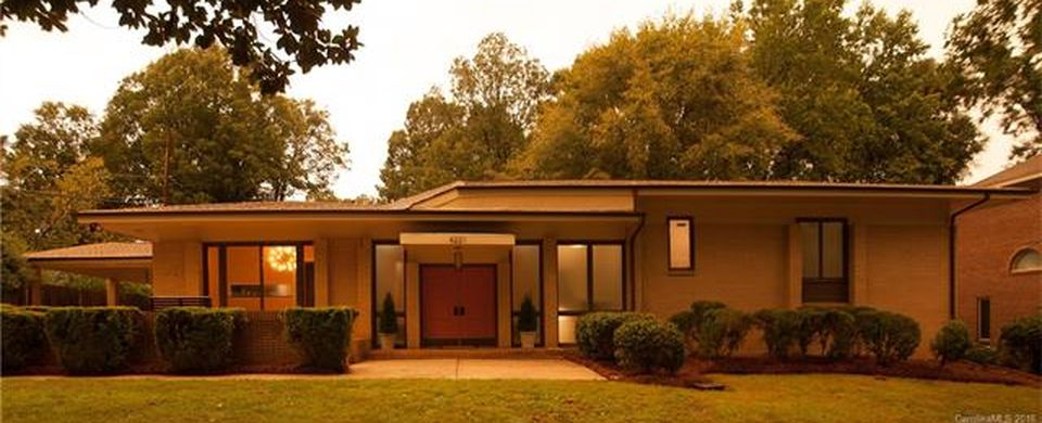 The Hyde Park home that was the first designed by architect and former Charlotte Mayor Harvey Gantt will be open to prospective buyers Sunday. Photo courtesy Carolina Multiple Listings Service Inc.