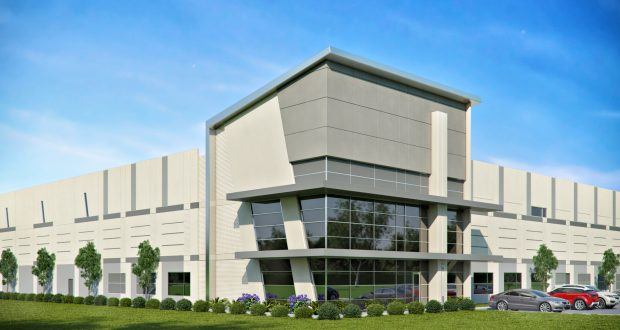 This rendering shows the first building for Metrolina Park. Graphic courtesy Beacon Partners