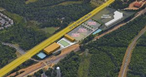 Principals at MPV Properties (MPV) and Tribek Properties recently sold a 5.03 acre site on University City Boulevard to Columbia self-storage developer Taylor/Theus Holdings. The property was sold for $797,500. Photo courtesy MPV.