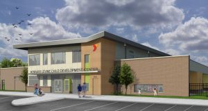 The new facility is expected to be complete in October and will serve 152 children from infancy through five years of age. Rendering courtesy RWCI