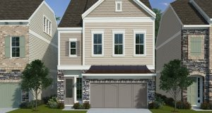 A rendering of The Wendover design at Greenway Village Cottage Collection. Photo courtesy David Weekley Homes