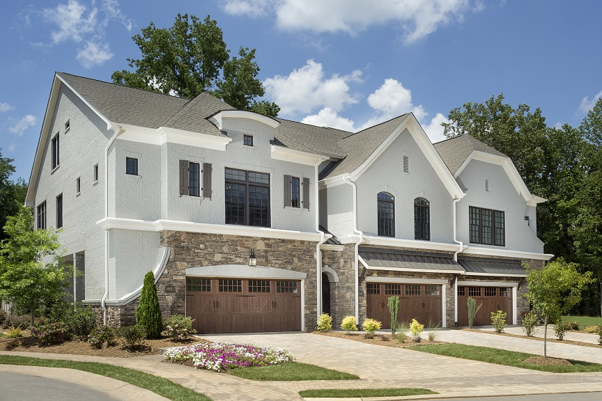 David Weekley Homes is offering final opportunities for new homes in Avignon Town Homes – SouthPark, including The Verdale showcase townhome. Photo courtesy David Weekley Homes