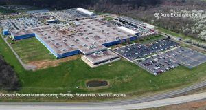 The construction is expected to begin July 2021, with full project completion expected May 2022. The announcement comes on the heels of an earlier $11 million facility upgrade at Statesville, which was completed in January. Photo courtesy Doosan Bobcat North America